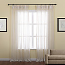(Two Panels) Neoclassical Jacquard Stripe Sheer Curtain