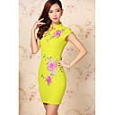 Элегантная вышивка женщин цветка Cheongsam