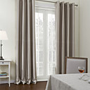 Two Panels  Contemporary Stripes Room Darkening Curtain
