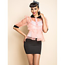 TS Organza Kontrasti Collar Two Pieces Pusero