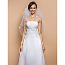 Elegante Two-Tier-Elbow Veil With Pencil Edge-(More Colors)