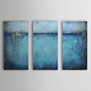 pintura a óleo abstrata, com quadro esticado conjunto de 3 telas pintadas à mão 1308-ab0544