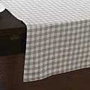 Modern Style Grey Check Table Runner