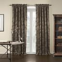 (Dos paneles) jacquard gardern marrón cortina blackout