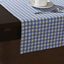 Country Style Blue Check Pattern Tafellopers