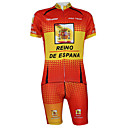 Kooplus2013 Championship Jersey Spain Polyester&Lycra&Elastic Fabric Cycling Suits(T-Shirt + Bib-Pants)