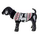겨울 - 그레이 - 크리스마스 - 양모의 - 스웨터 - 개 - XS / M / XL / S / L