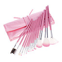 13 PCS Face Goat Hair Makeup Brush Brushes Pink Tool Kit Set Cosmetic