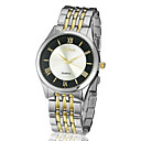 Amazing Zinc Alloy Case Quartz Movement Steel Band Analog Wrist Watch