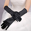 Red/White/Black Long Satin Halloween Gloves for Women