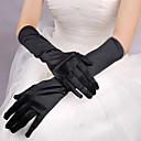 Rot / Weiß / Schwarz Lang Satin Halloween Handschuhe für Frauen