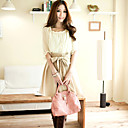 Women's Cute / Casual Dress Above Knee Chiffon