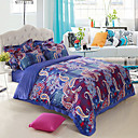 4-Piece Morgna Velvet Printed Duvet Cover Set