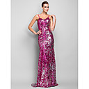 Formal Evening/Military Ball Dress - Fuchsia Plus Sizes Trumpet/Mermaid Spaghetti Straps Floor-length Sequined