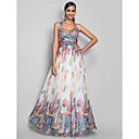 Formal Evening/Military Ball Dress - Print Plus Sizes A-line/Princess Straps Floor-length Chiffon