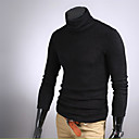 Autumn And Winter Men Rabbit Fur Cashmere Slim Male Basic Turtleneck Sweater