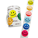 100pcs Circle Smiley Stickers (colore casuale)