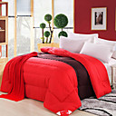 Soft Warm Red And Coffee Heavyweight Comforter
