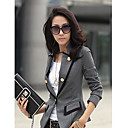 Kvinnors Button Lapel Slim Cut Blazer