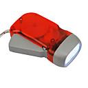 Red Eco-friendly 3-LED Dynamo Flashlights