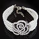 Women's Charm/Persona Beads Collection Bracelet Alloy Imitation Pearl/Rhinestone