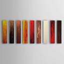 Dipinti a mano olio pittura astratta Pannelli con telaio allungato Set di 9 1311-AB1187