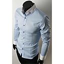 Men's Stand Collar Casual Long Sleeve Shirt