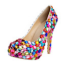 Women's Shoes Round Toe Stiletto Heel Pumps with Rhinestone Shoes