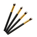 Pro High Quality 4 PCs Synthetic Hair Golden Makeup Eye Brush