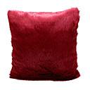 Fantaisie rouge moderne solide peluche Brocade coussin décoratif couverture