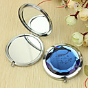 Personalized Gift Flower Pattern Chrome Compact Mirror