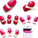 96pcs Patterns misti francesi Guide Manicure Tip