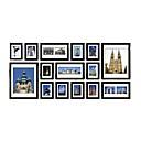 Collection Black Frame mur Photo Set de 15