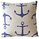 Iron Blue Pillow Anchor Stripe décoratif couverture