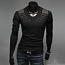 preto puro / t-shirt de algodão verde / branco, v pescoço dos homens