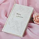 European Style Wedding Invitation With Flower - Set of 50