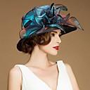 gorgrous organza häät / häämatka hattu paljetti (enemmän väriä)