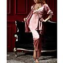 Mulheres Três peças clássicas Pijama Com Corda