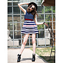 TS Two Piece Stripe Sleeveless A-Line Dress