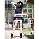 TS Kaksi Piece Stripe hihaton-Line mekko