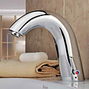 Bathroom Sink Faucet Chrome finish with Automatic Sensor (Hot and Cold)