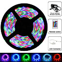 Waterproof 5m RGB Strip Light Kit 300 LED SMD 3528 24 key IR Key 12v 2A Power Blister Packing
