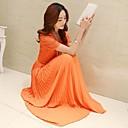 Women's Lace Splicing Short Sleeve Long Chiffon Maxi Dress