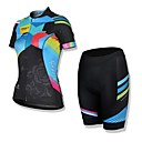 Spakct Women's Short Sleeves Cycling Jersey + Shorts Cycling Suits Summer 100% Polyester Short  Sleeves  Cycling Jersey Suits