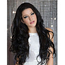 High Quality 20inch Natural Color Brazilian Virgin Human Hair Body Wave Lace Front Wigs For Black Women