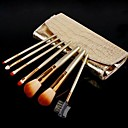 New 7 PCS Professional Makeup Brush Cosmetic Brushes Roll Up Set Kit With Case 3071