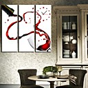 The Dance of Wine Clock in Canvas 3pcs
