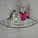 Triangular Corner Storage Glass Shelf,10 inch x 10 inch