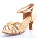 cetim sapatos de dança de salão sapatos latin superior para as mulheres