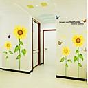 Romantisk Sunflower Design papir Med Plastic Stickers & Tape (Multicolor Farve x1pcs)